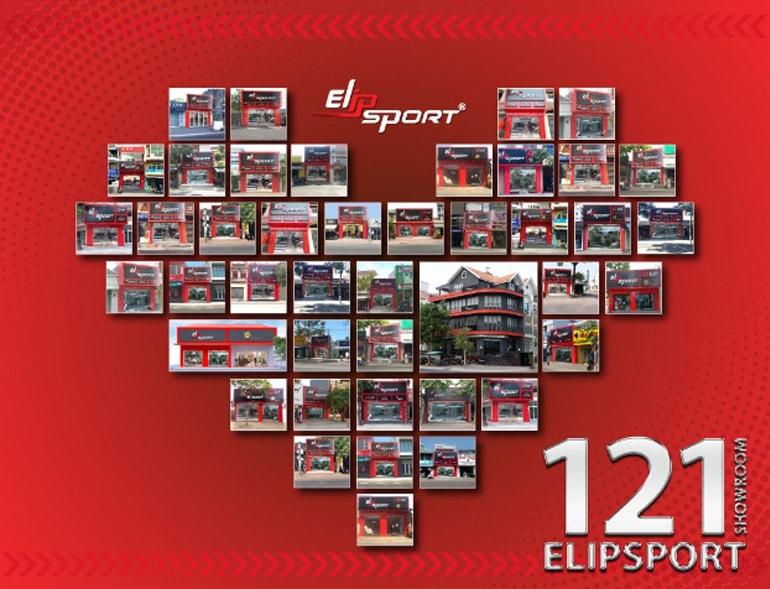 Hệ thống 121 showroom Elipsport phủ khắp 63 tỉnh thành