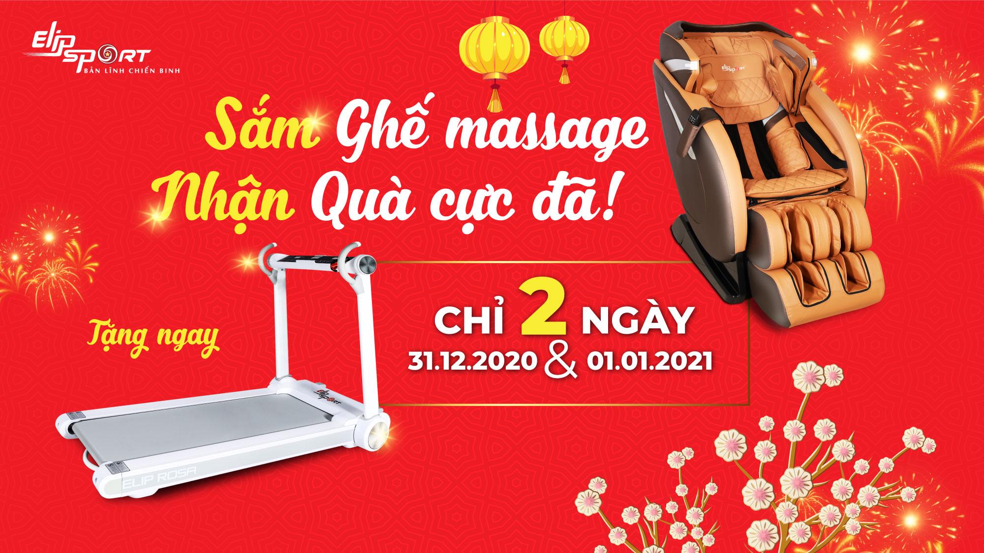 Mua ghế massage tặng máy chạy bộ ELIP