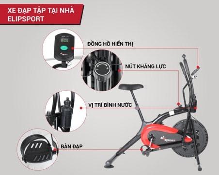 các bộ phận của xe đạp tập thể dục
