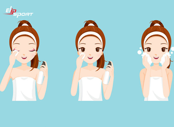 cách massage mặt khi rửa mặt
