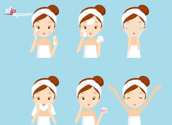 cách massage mặt trong khi rửa mặt