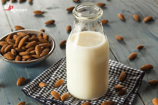giảm cân bằng sữa hạnh nhân