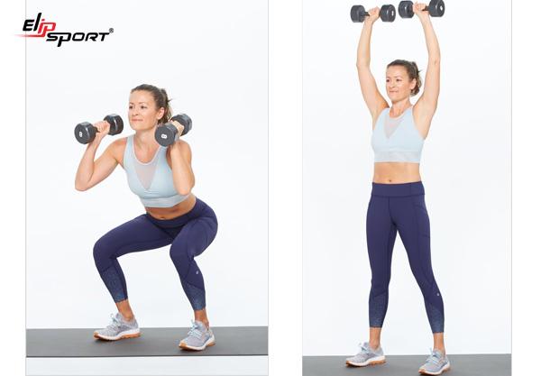 Bài tập Squat giảm mỡ bụng và bắp tay