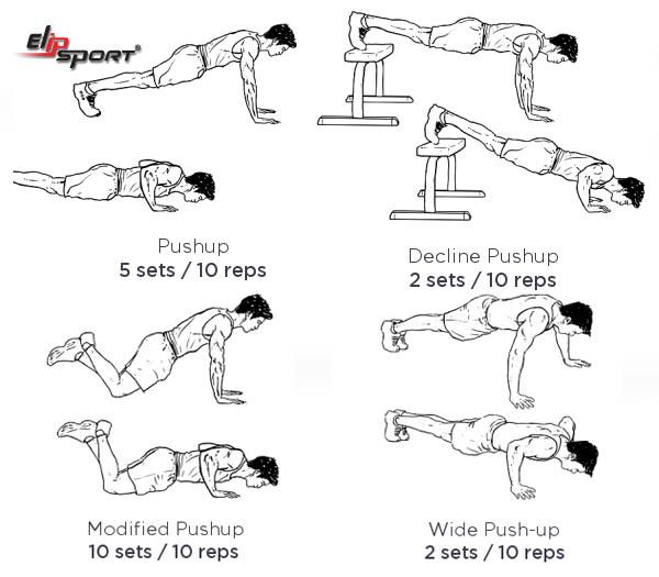 tập cơ ngực tại nhà