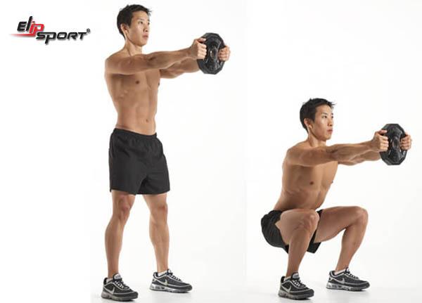 Hướng dẫn các bài tập squat tại nhà cho nam mông to