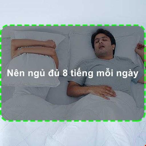 Nên ngủ đủ 6 - 8 tiếng mỗi ngày