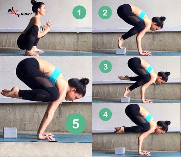 yoga tư thế con quạ
