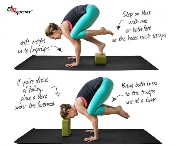 tư thế con quạ trong yoga