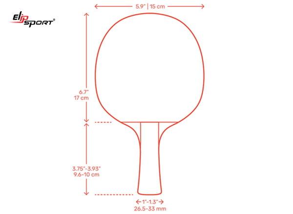 kích thước vợt bóng bàn