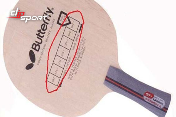trọng lượng vợt bóng bàn