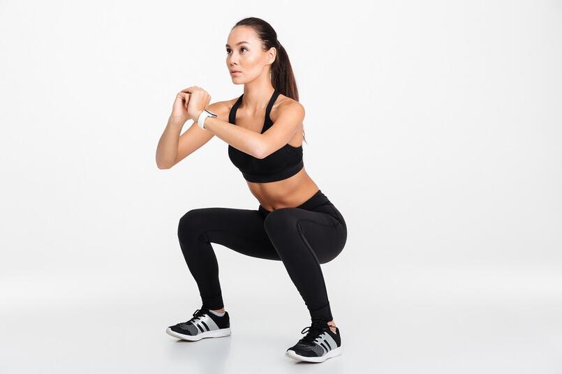 Squat giảm mỡ bụng