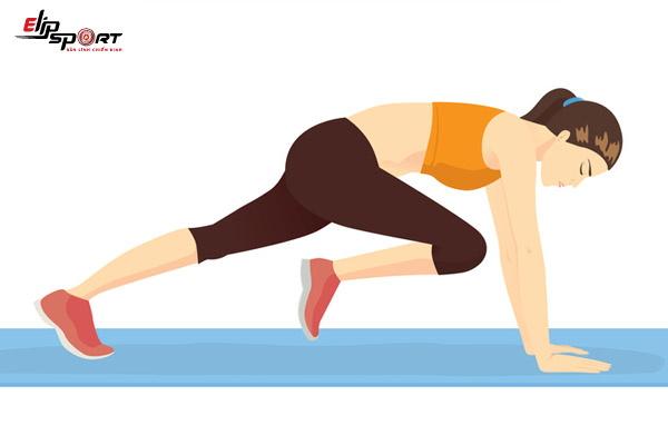 bài tập giảm mỡ bụng với bài plank leo núi