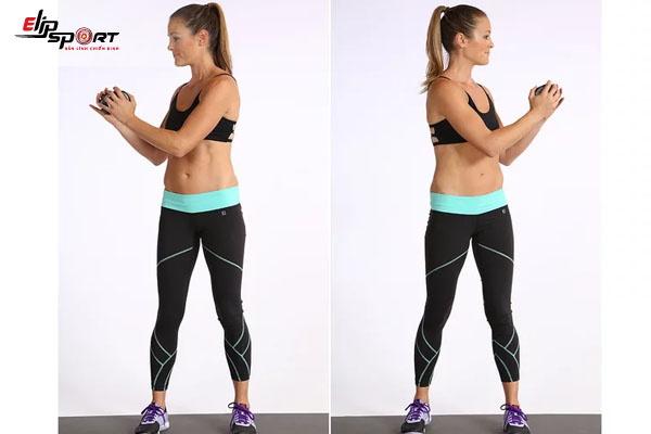 bài tập aerobic giảm mỡ bụng xoay người