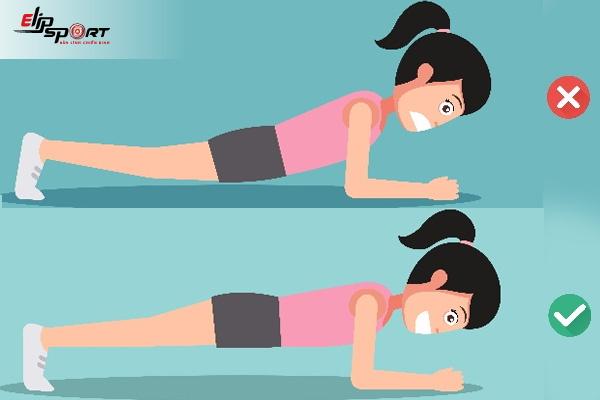 tập plank bị đau lưng