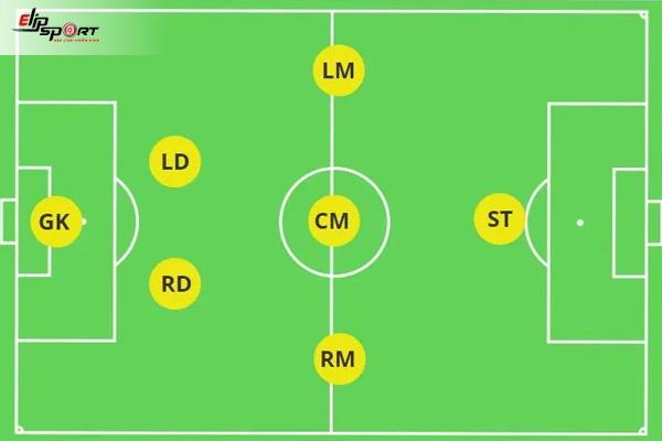 sơ đồ bóng đá sân 7