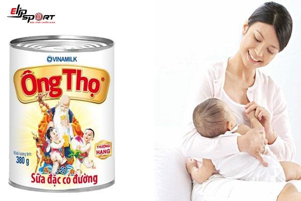 Sau sinh có uống sữa ông thọ không