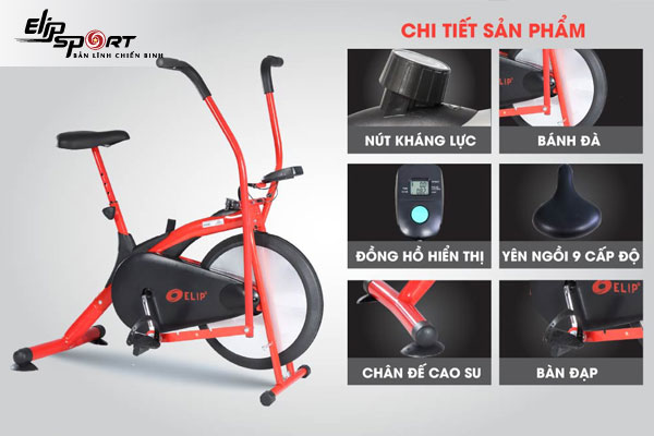 Xe đạp tập tốt nhất Hồ Chí Minh Elip Zalo