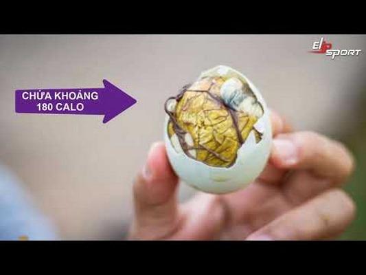 1 quả trứng vịt lộn chứa bao nhiêu calo