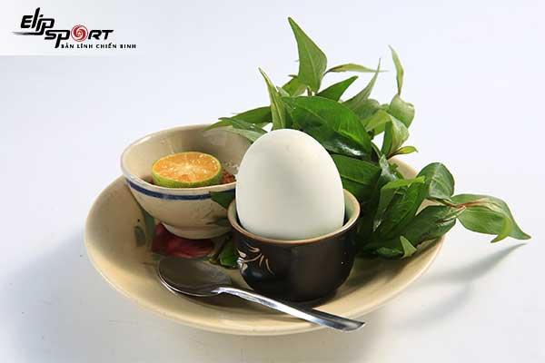 công dụng của trứng vịt lộn