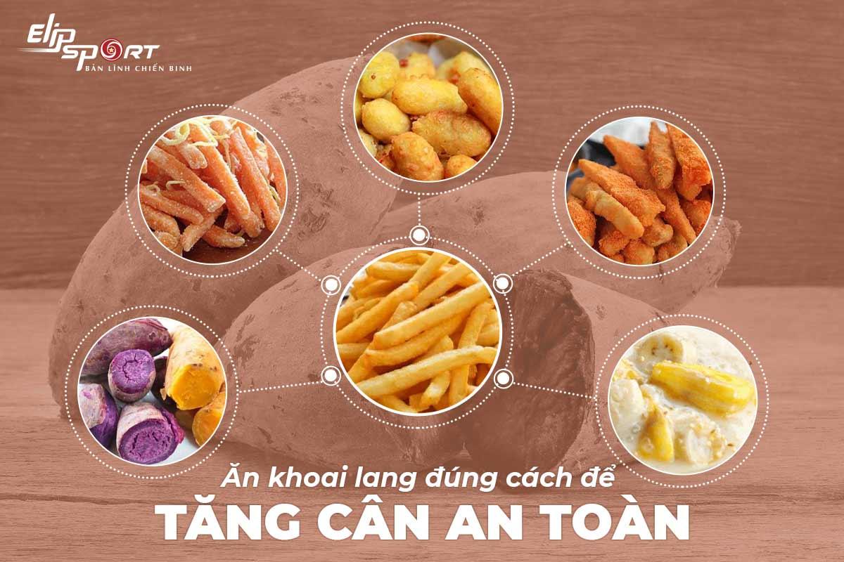 ăn khoai lang giảm cân hay tăng cân