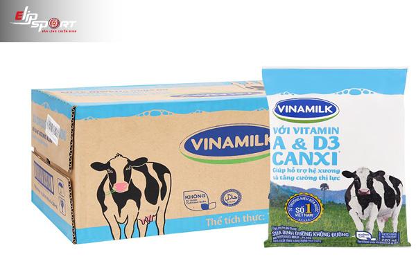 Các loại sữa không đường