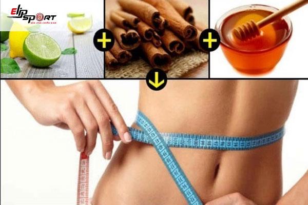 nước quế mật ong giảm cân