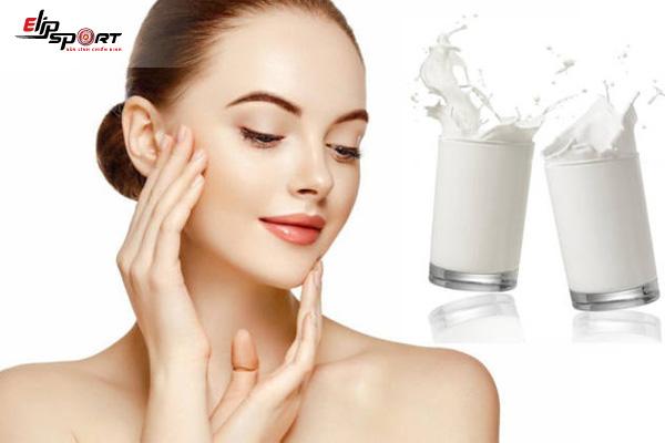 sữa tươi không đường rửa mặt có tác dụng gì