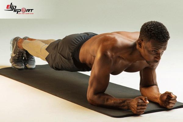 tập bụng 6 múi cho nam tại nhà - Plank