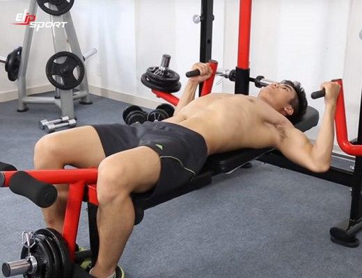 những bài tập nâng ngực xệ của nam giới
