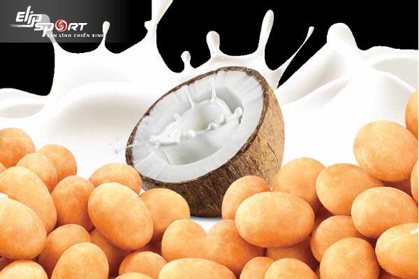 ăn đậu phộng nước cốt dừa có béo không