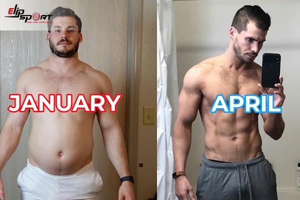 tập gym 1 tháng tăng bao nhiêu kg