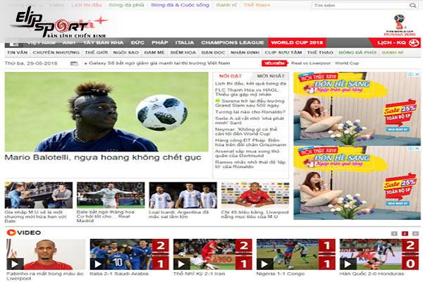Các trang báo bóng đá nước ngoài