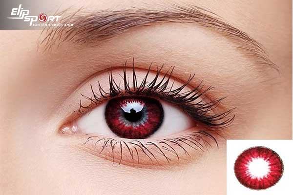 đeo lens bị đỏ mắt
