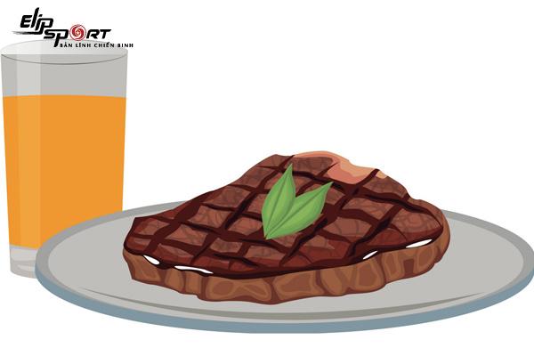 ăn thịt bò uống nước cam được không