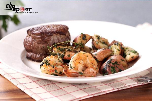 thịt bò nấu với tôm được không