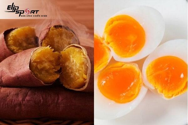 thực đơn giảm cân bằng khoai lang và trứng