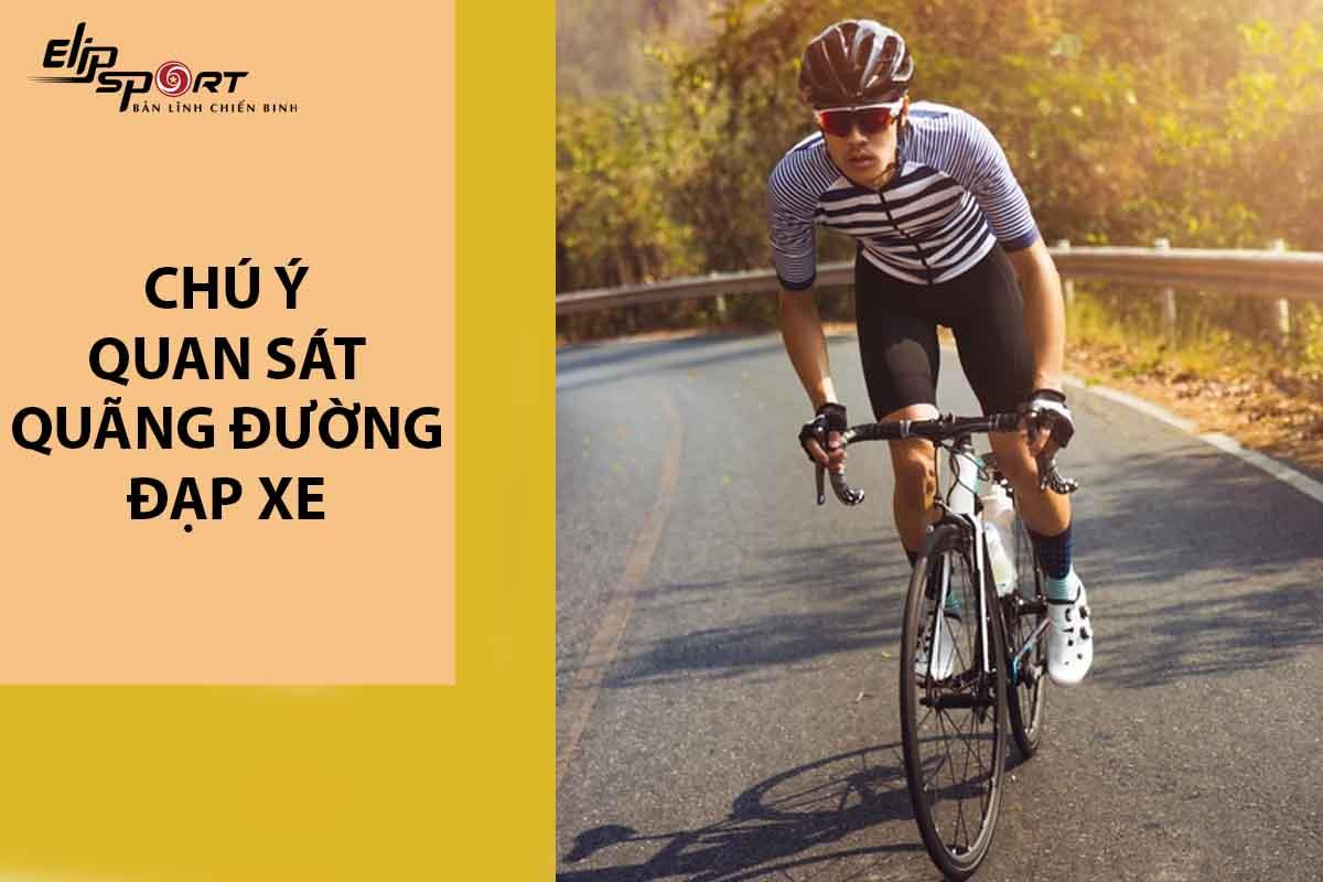 Chú ý quan sát khi đạp xe tốc độ cao