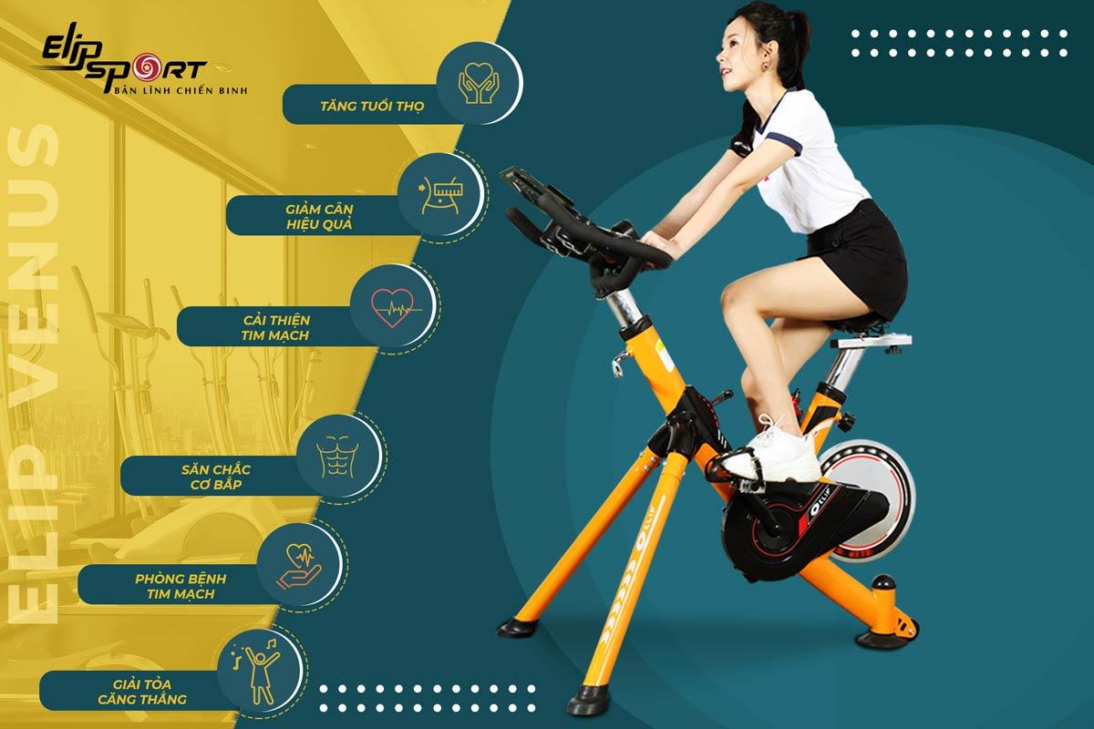 cách sử dụng xe đạp tập thể dục