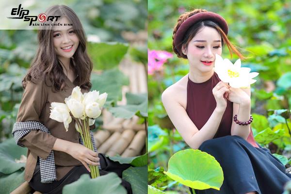 Gợi ý các tư thế chụp ảnh với hoa sen siêu đẹp