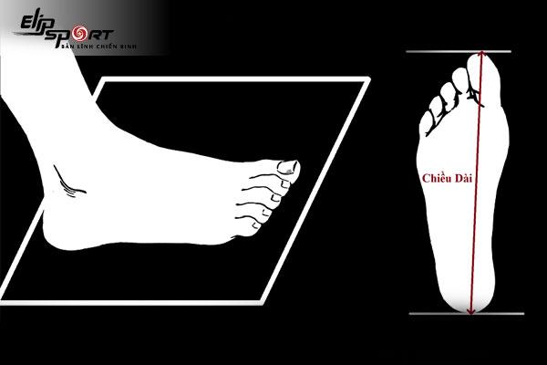 size chân cho bé