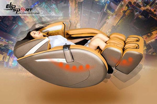 Công nghệ không trọng lực 2 cấp độ ở ghế massage ELIP Elysium