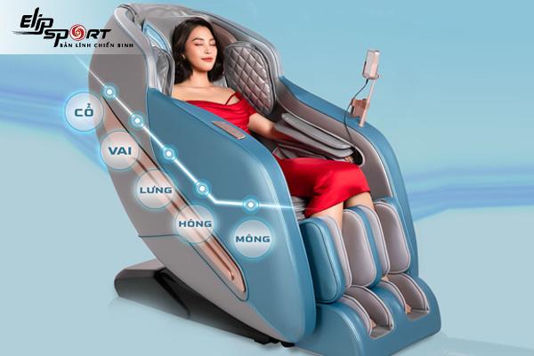 Cách sử dụng ghế mát - xa để phục hồi sức khỏe sau tập luyện