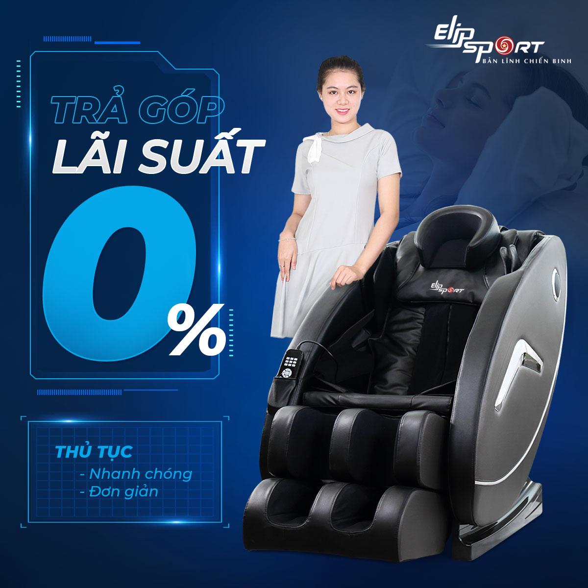 Mua ghế massage trả góp 0% tại Elipsport