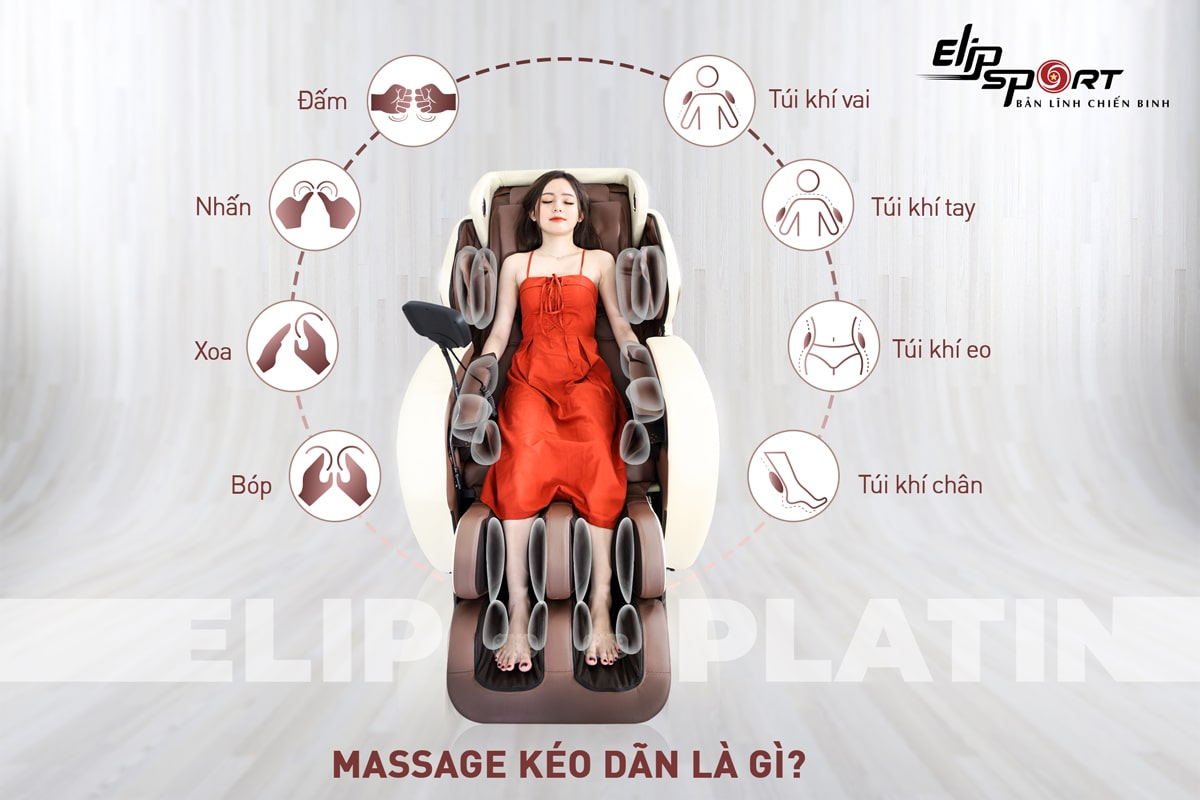 kéo dãn trong ghế massage