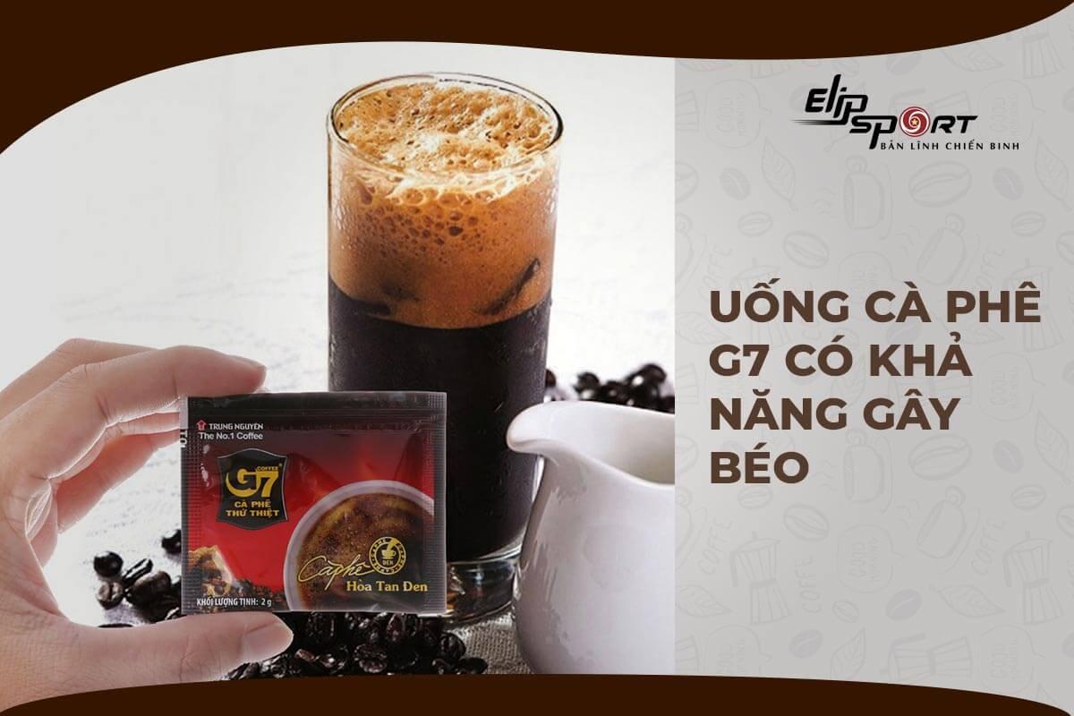 1 gói cafe g7 bao nhiêu calo