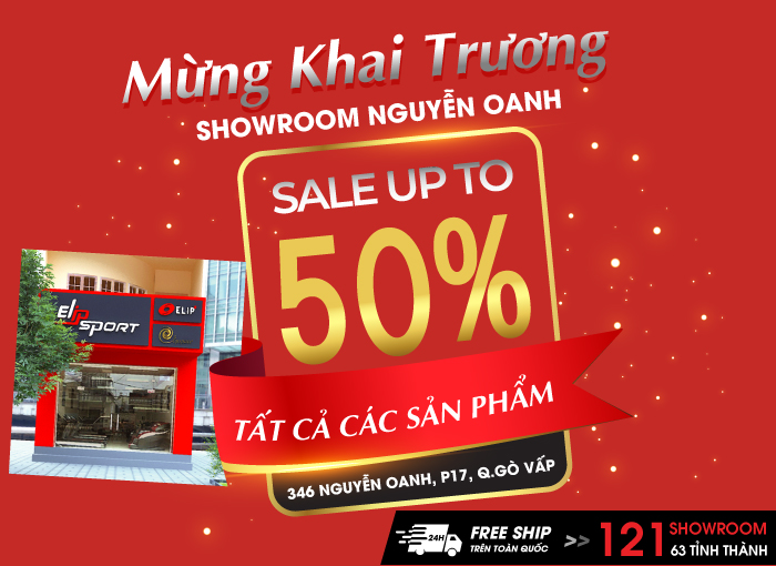 Khai trương tưng bừng, ngập tràn ưu đãi tại chi nhánh Nguyễn Oanh - Sale upto 50%