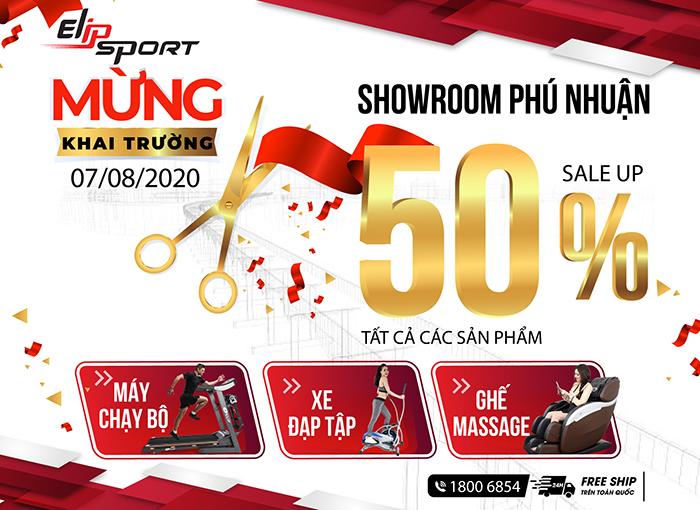Tưng bừng khai trương cửa hàng Elipsport Phú Nhuận, giảm sốc 50%