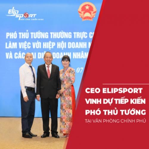 Bản tin Elipspeed Số 3: CEO Elipsport gặp Phó thủ tướng Trương Hòa Bình tại VPCP