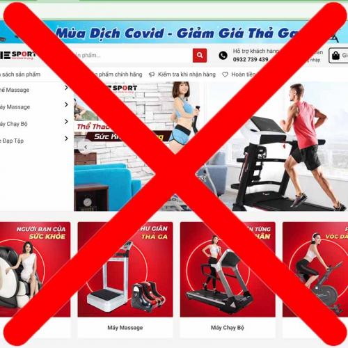 Cảnh báo hành vi giả mạo website Elipsport, lừa đảo để bán hàng