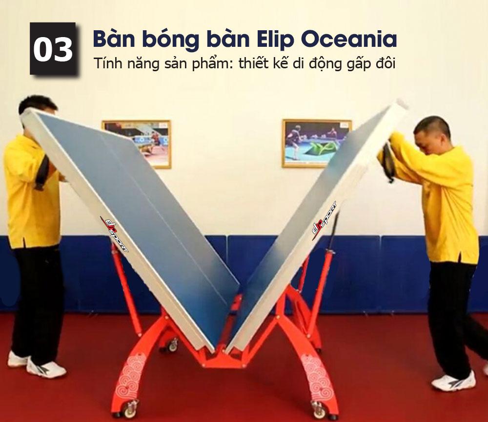 tính năng bàn bóng bàn elip oceania